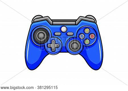 Game Controller Icon. Isolated Digital Gamepad With Joysticks And Control Buttons. Vector Controller