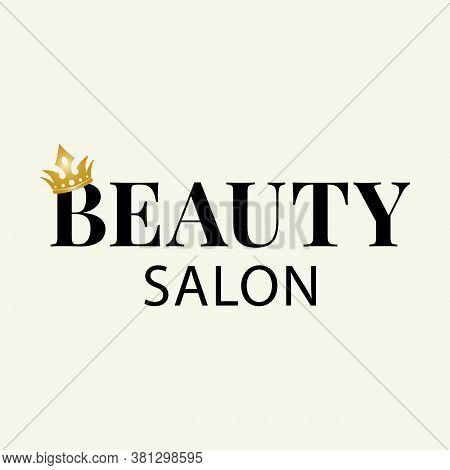 Elegant Logo Template For A Beauty Salon. Vector Design.