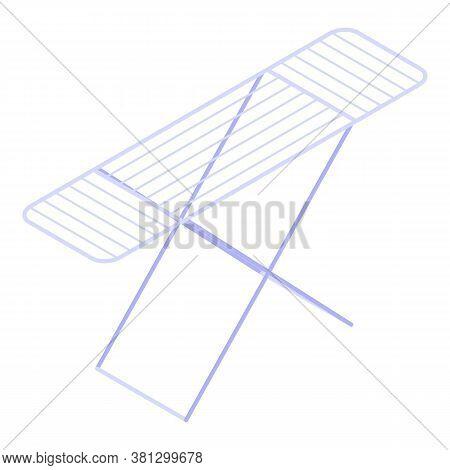 Folding Dryer Icon. Isometric Of Folding Dryer Vector Icon For Web Design Isolated On White Backgrou