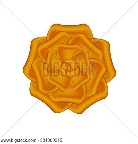Rose Flowers Copper Ornate Isolated On White, Luxury Copper Flowers Object Metal Sculpture