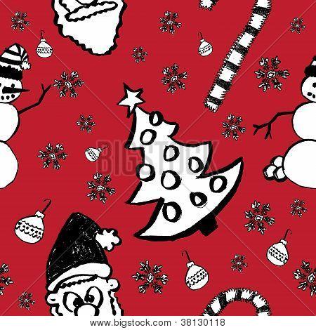 Seamless Hand Drawn Christmas