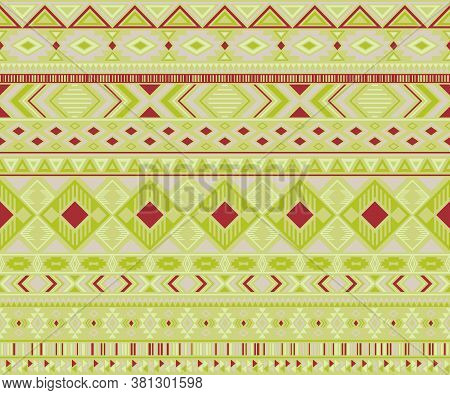 Navajo American Indian Pattern Tribal Ethnic Motifs Geometric Vector Background. Beautiful Native Am