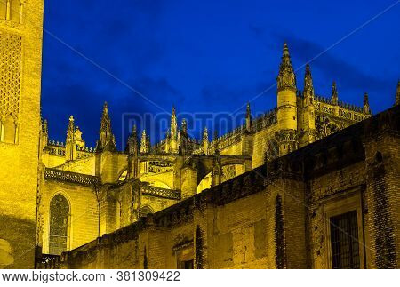Catholic Cathedral Of Saint Mary, Catedral De Santa Maria De La Sede In Seville, Andalusia, Spain At