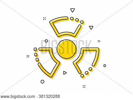 Laboratory Toxic Sign. Chemical Hazard Icon. Chemistry Warning Symbol. Yellow Circles Pattern. Class