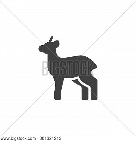 Antelope, Animal Vector Icon. Filled Flat Sign For Mobile Concept And Web Design. Gazelle, Impala Gl