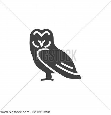 Owl Bird Vector Icon. Filled Flat Sign For Mobile Concept And Web Design. Eagle-owl Glyph Icon. Symb