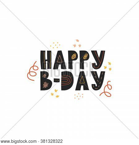 Happy Birthday Message On A White Background