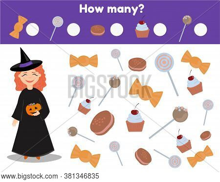 Counting Educational Game. Study Math And Numbers For Children.