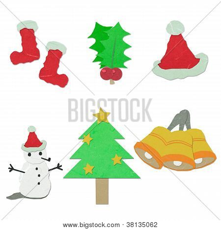 Rice Paper Cut Christmas  Ornaments