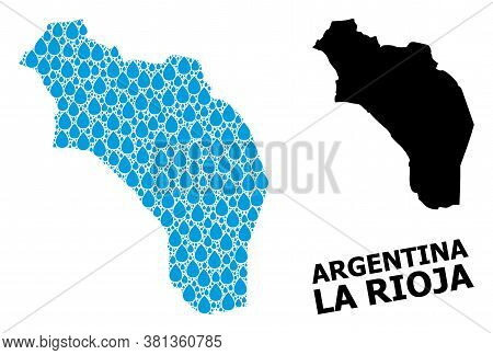 Vector Mosaic And Solid Map Of Argentina - La Rioja. Map Of Argentina - La Rioja Vector Mosaic For P