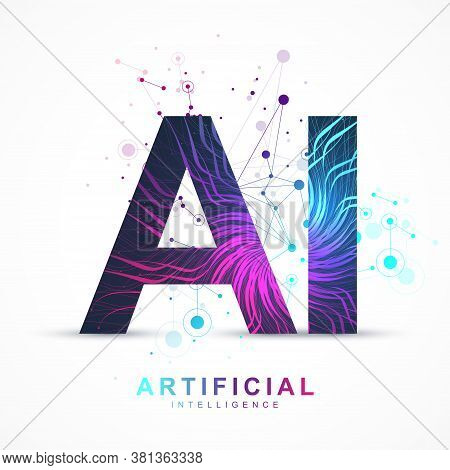 Artificial Intelligence And Machine Learning Vector Concept In Neural Network. Ai Web Banner Design