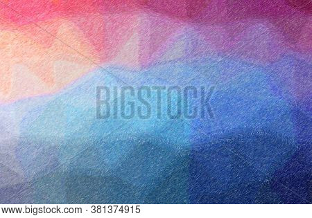 Abstract Illustration Of Blue And Purple Color Pencil High Coverage Background.