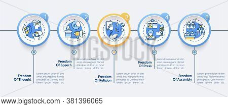 Basic Human Freedoms Vector Infographic Template. Freedom Of Press. Presentation Design Elements. Da