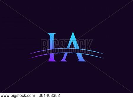 Letter Ia Logo Vector Template. Ia Letter Linked Logo For Business And Company Identity.
