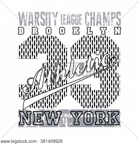 New York, Typography Athletic, Design Graphic, T-shirt Printing Man Nyc, Original Design Clothing