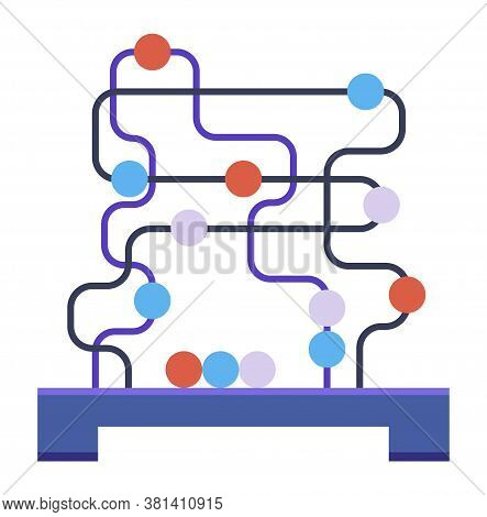 Brainteaser, Puzzle Or Teaser. Tubes - Labyrinths With Multicolored Balls. The Development Of Logica