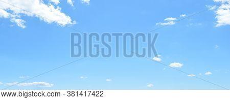 Blue Sky, White Clouds, Heaven. Beautiful Background