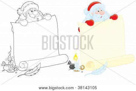 Santa Claus with ad