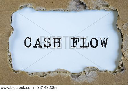 Torn Paper Box With Word Cash Flow