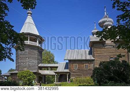 Church Dmitry Mirotochivogo Is A Unique Monument Of Russian Wooden Architecture