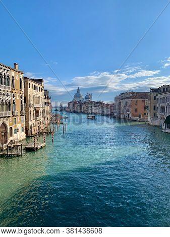 Vista Do Grande Canal De Veneza, Itália