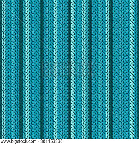 Fairisle Vertical Stripes Knit Texture Geometric Seamless Pattern. Jacquard Knitwear Structure Imita