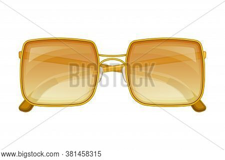 Sunglasses Or Shades Of Rectangular Shape As Protective Eyewear Vector Illustration