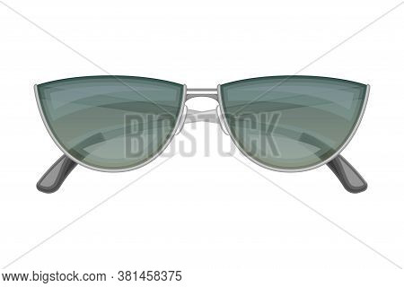 Sunglasses Or Shades With Metal Frame As Protective Eyewear Vector Illustration