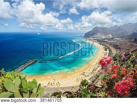 Landscape With Las Teresitas Beach And San Andres Village, Tenerife, Canary Islands, Spain