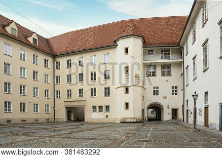 Graz, Austria. August 2020. The Inner Courtyard Of The Grazer Burg