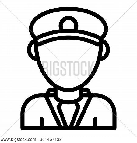 Train Pilot Icon. Outline Train Pilot Vector Icon For Web Design Isolated On White Background