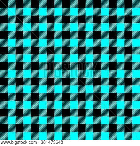 Tartan Plaid. Scottish Pattern In Black And Qua Cage. Scottish Cage. Traditional Scottish Checkered