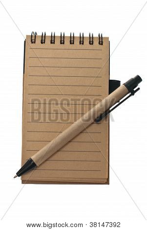 Notepad And Pen In Retro Style.