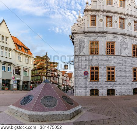 Celle, Niedersachsen / Germany - 3 August 2020: View Of The Old City Hall Building In Celle In Lower