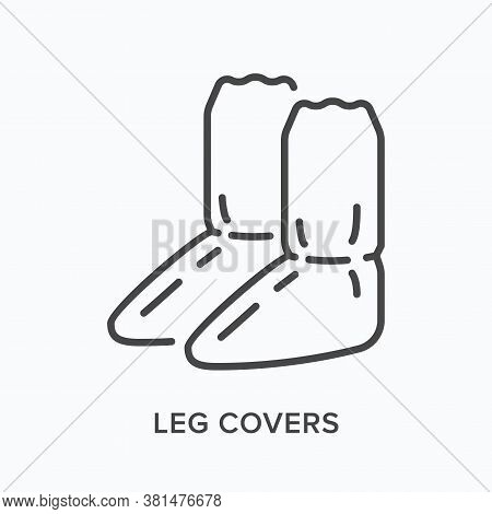 Shoe Cover Line Icon. Vector Outline Illustration Of Leg Covers, Boot Protection Flat Sign. Worker P