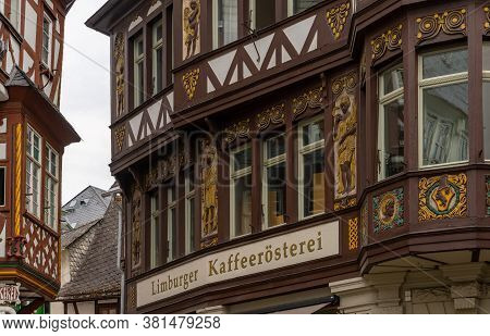 Limburg, Hessen / Germany - 1 August 2020: Well-maintained And Historic Old Half-timbered Houses In