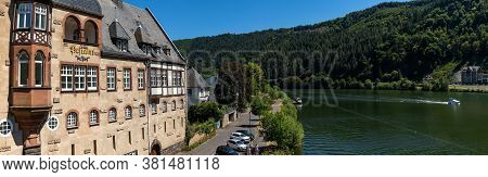 Traben-trarbach, Rheinland-pfalz / Germany - 31 July 2020: View Of The Historic Post Office In Trabe