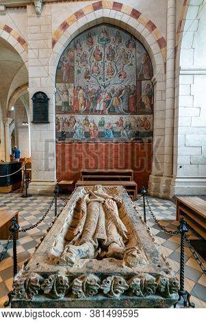 Limburg, Hessen / Germany - 1 August 2020: View Of The Mausoleum Of Konrad Kurzbold In The Limburg C