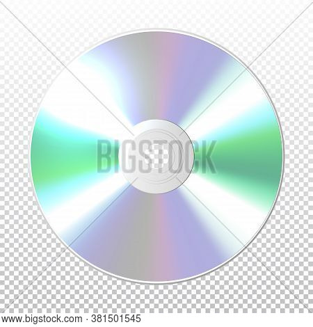 Dvd-cd Vector. Disk On A Blank Background. Vector Illustration