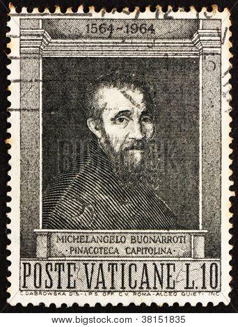 Postage stamp Vatican 1964 Michelangelo Buonarroti
