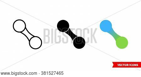 Fusion Icon Of 3 Types Color, Black And White, Outline. Isolated Vector Sign Symbol.
