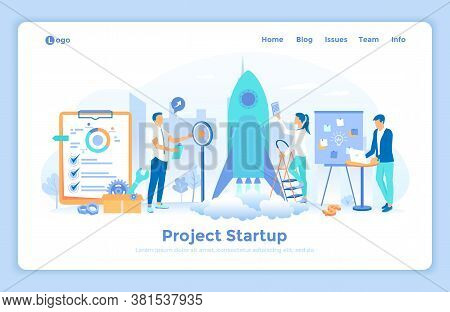 New Project Startup, Financial Planning, Idea, Strategy, Management, Realization, Success. Team Of S