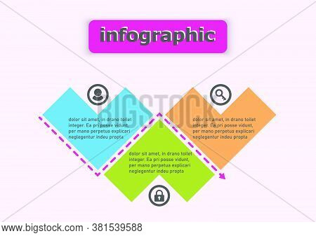 Pattern Heart Vector Template Design Icon For Illustration. Planning Presentation Business Infograph