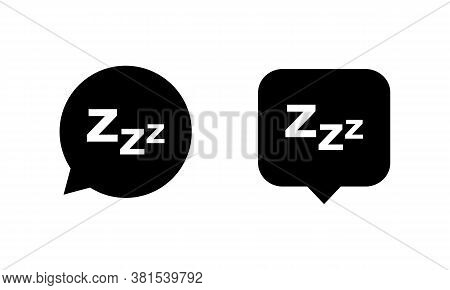 Sleep Icon Set Isolated On White Background. Zzz Sleep Symbol. Vector Eps 10