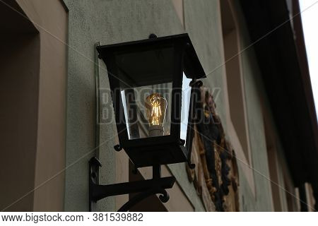 Old Street Lamps Illuminate The Way For Passersby