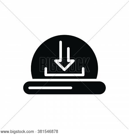 Black Solid Icon For Download Computerize Initialize Program Application Direction Update Install Re
