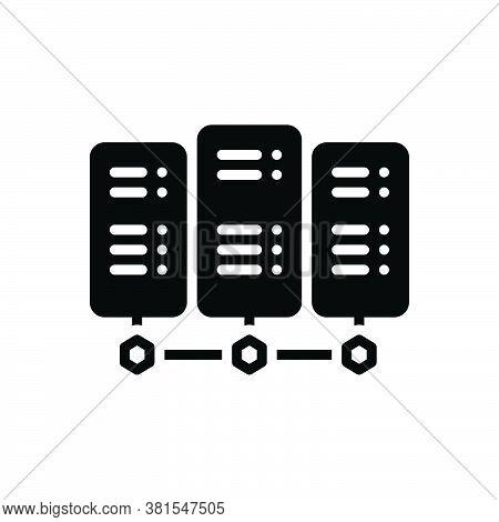 Black Solid Icon For Server Backup Rackmount-server Datacenter Storage Database Cloud Networking Dis