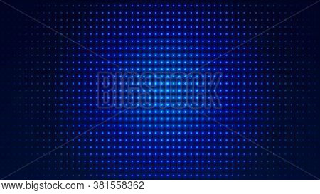 Dot  White Blue Pattern Screen Led Light Gradient Texture Background. Abstract  Technology Big Data