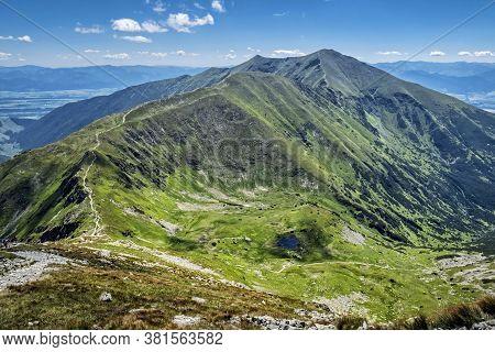 Baranec Peak From Placlivo, Western Tatras Mountains, Slovak Republic. Hiking Theme. Seasonal Natura