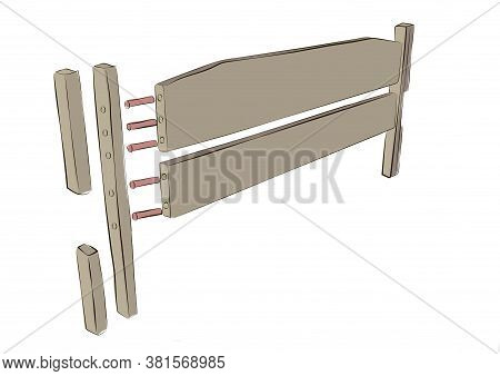 Platform Bed Construction Details. Construction Truck Bed. Wood Panel Bed Parts Accessories. Headboa